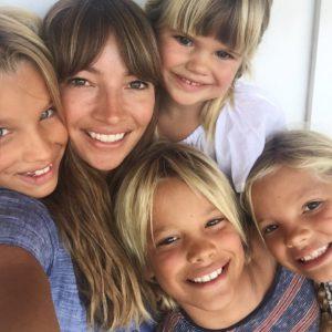 Courtney Adamo and her kids
